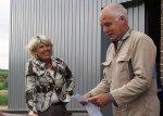 Gerrit Kouwenhoven en Burgemeester Inez Pijnenburg
